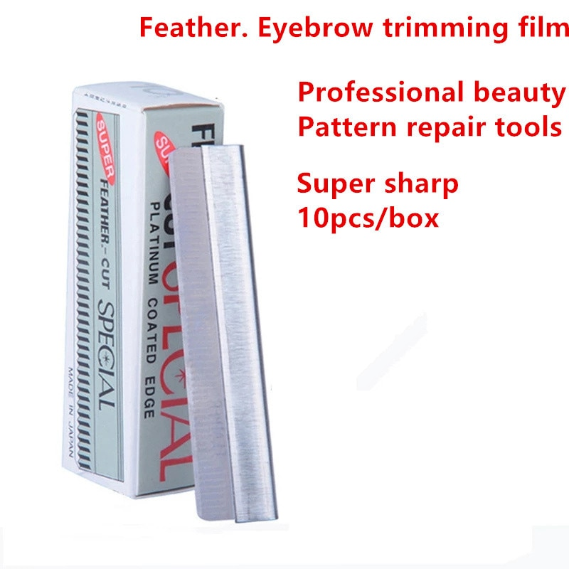10pcs Disposable Stainless Steel Hair Blade Knife Tattoo Eyebrow Trimmer Scraper Shaping Shaver Make