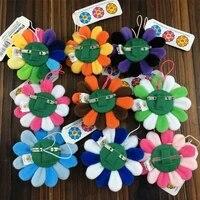 Broche en peluche tournesol  Murakami  fleur de soleil  KaiKi  sac suspendu  ornements  pendentif pour decoration de maison