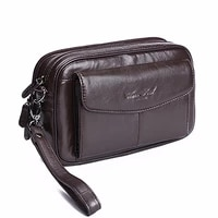 high quality mens clutch bag genuine leather male business wallets skin zipper clutch purse money bag mobile phone case pouch