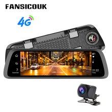 4G ADAS Car DVR 10'' Dual lens Dash Cam Android 1080P GPS WIFI Auto Registrars Loop Recording Rearview Mirror Camera DVRs 789
