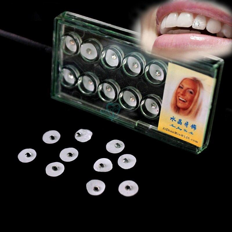 Dental adornos cristalinos para diente gemas los dientes de gemas sin pegamento para 10 Uds