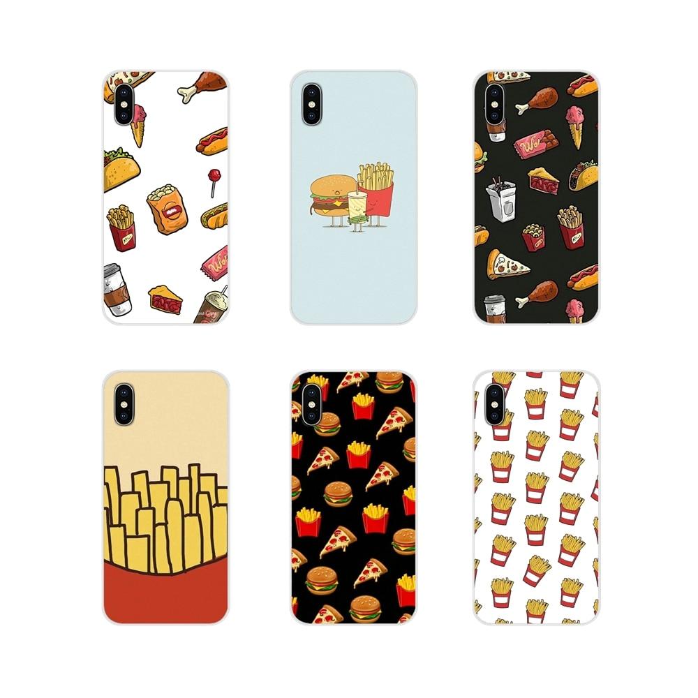 Lebensmittel französisch frites burger pizza Phone Cases Abdeckung Für BQ Aquaris S 5059 5035 6040L C V Plus X X2 pro U U2 Lite M 2017 E 4,5 E5 X5