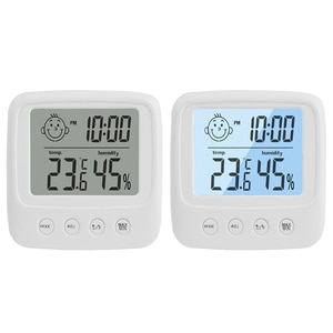 LCD Digital Temperature Humidity Meter Home Indoor Office Electronic Thermometer Hygrometer Gauge with Backlight