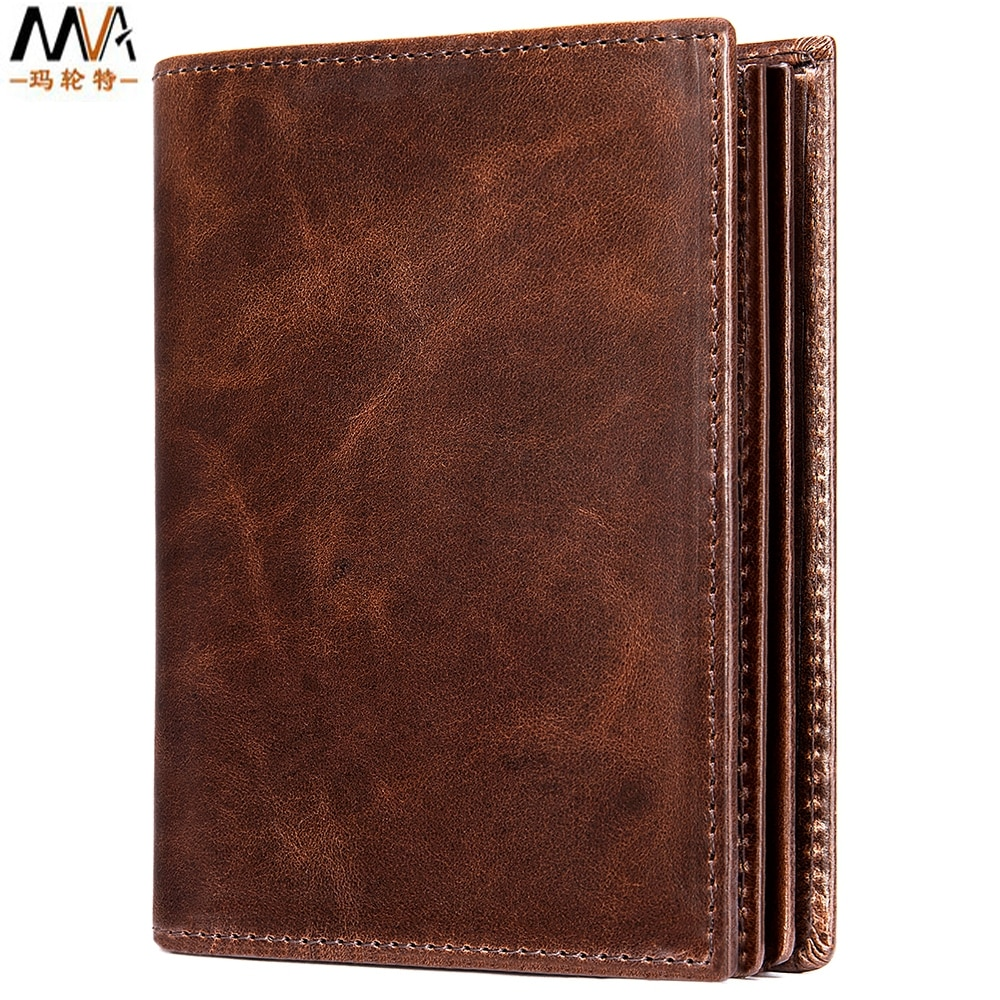 Men card holder of genuine leather wallet  First layer cowhide business money clip  The male magnetic-proof RFID coin purse aetoo handmade leather wallet head layer cowhide money clip simple design male and female general