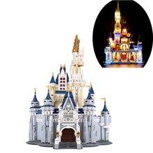 En stock blocs de construction Disneying château blocs de construction 71040 pour garçon Birl Sssembly cadeaux