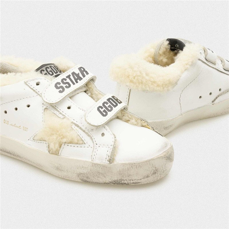Autumn and Winter New Lamb Hair Children's Old Small Dirty Shoes for Boys and Girls Casual Velcro Kids Fashion Sneakers CS190 enlarge