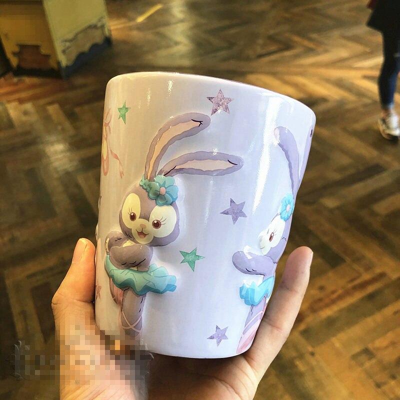 Taza de agua de cerámica DIW de estrella de Disney, tazas de capacidad grandes creativas, figura de acción de Anime, regalo de cumpleaños para niños M5462