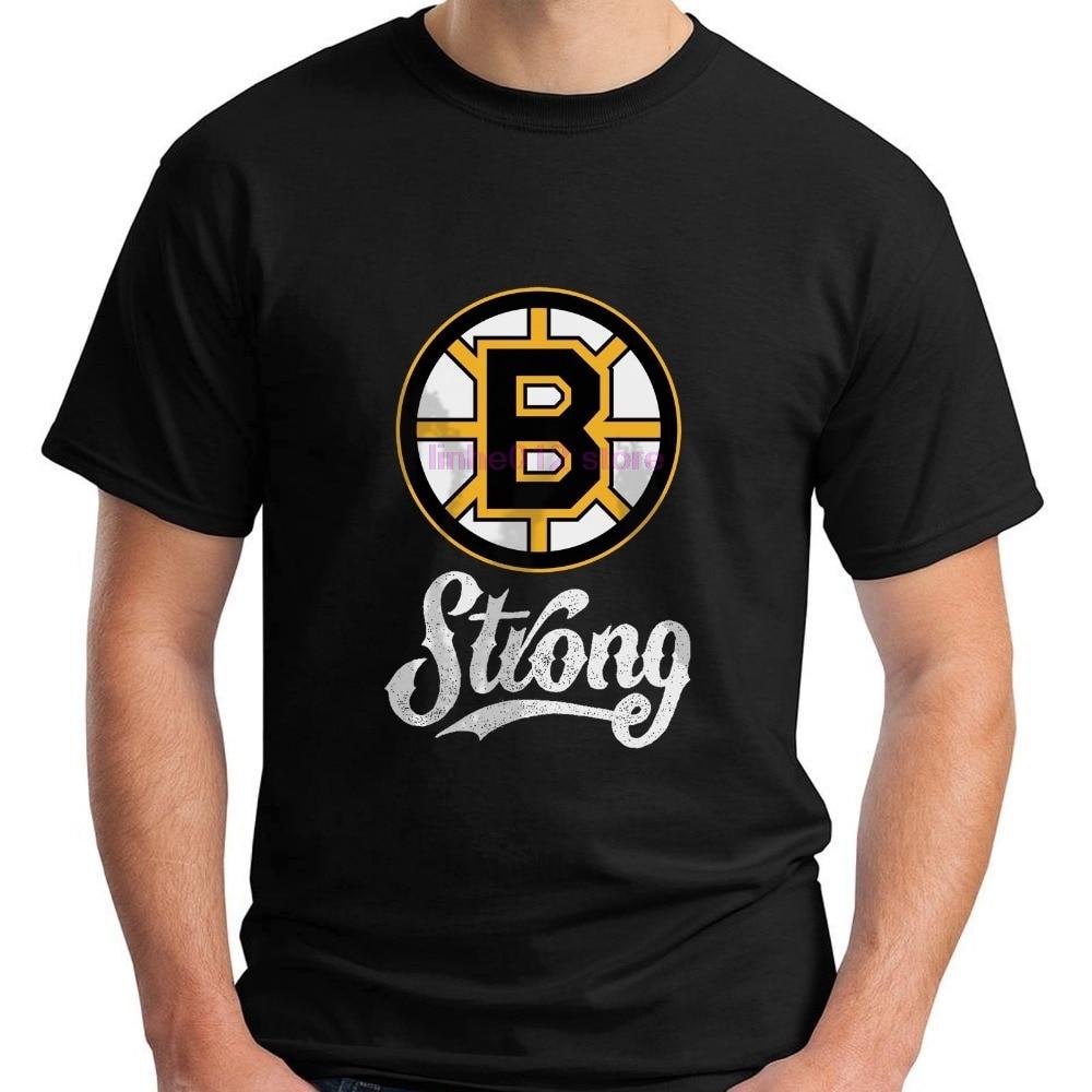 Newest 2020 T Shirt Fashion MenS Short Sleeve Zomer O-Neck Boston B StrongTribute Hockeyer Bruins T Shirts
