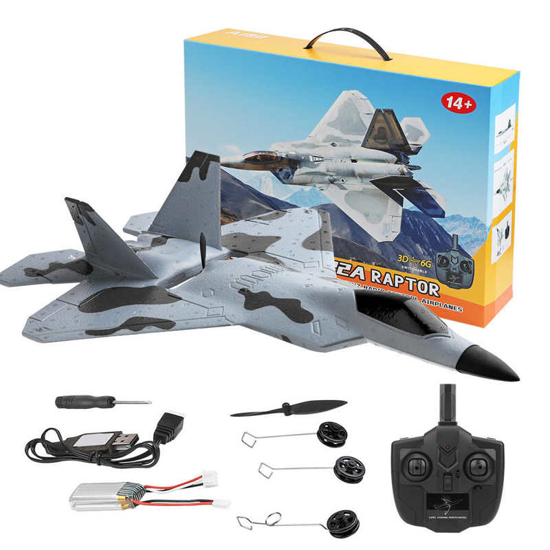 XK A180-F22 Aircraft Model Brushless Fixed Wing 3D/6G Remote Control Aircraft 2.4G Remote Control Drone