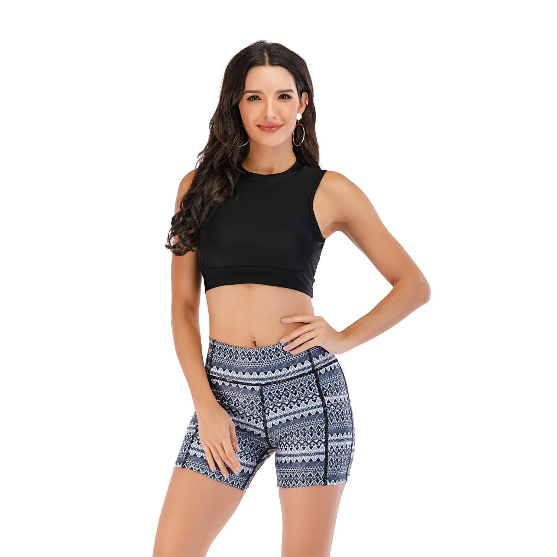 Conjunto Tankini con pantalones Boyleg, traje de baño deportivo para mujer, ropa de playa sin tirantes acolchada, trajes de baño de dos piezas, ropa de playa femenina