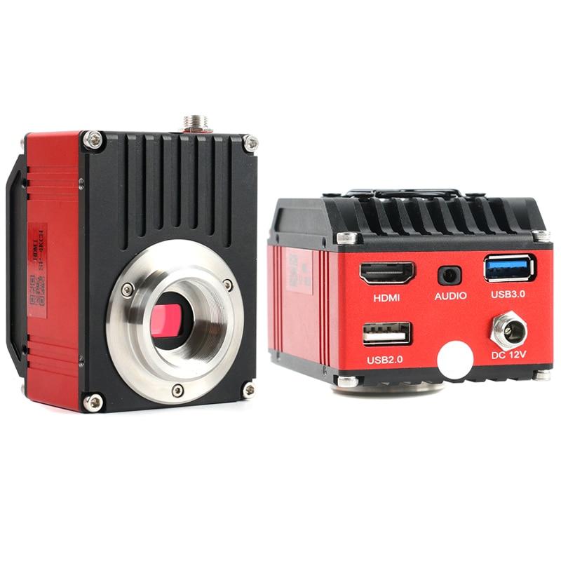 4K UHD 8.3MP SONY Sensor HDMI Digital Video microscopio Cámara inteligente U disco C-montaje medición CCD cámara electrónica microscopio