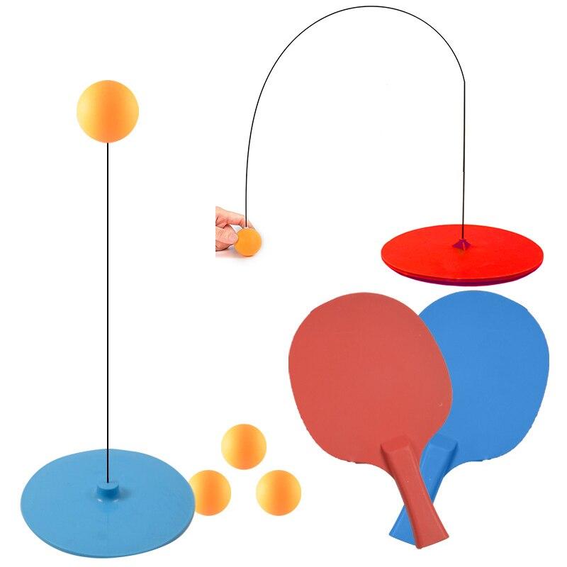 Máquina de treinamento do eixo macio do tênis de mesa do instrutor do tênis de mesa portátil elasticidade criança adulto ping pong prática trainer