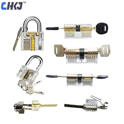 CHKJ 7 шт./лот, прозрачная комбинация замков, тренировочный Слесарь, инструменты, видимый замок, набор, бесплатная доставка