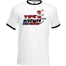 Taekwondo hommes T-Shirt ceinture costume Sparring Kick Pads chaussures cadeau sac Kit uniforme