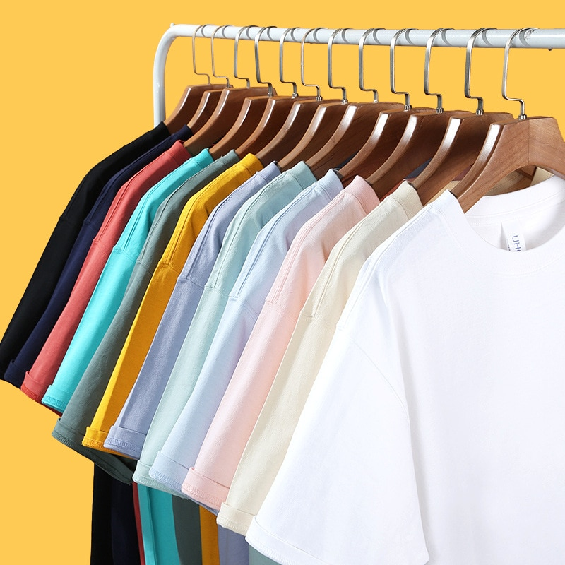 Футболка мужская однотонная с круглым вырезом, базовая мягкая хлопковая рубашка с коротким рукавом, топ оверсайз, лето 2021