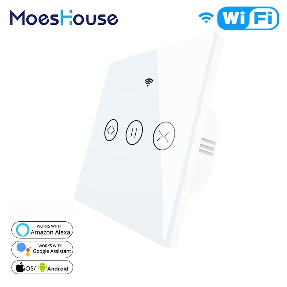 WiFi Смарт занавес штора переключатель для электрического моторизованный Tuya занавес рольставни работает с Alexa Echo Google Home умный дом