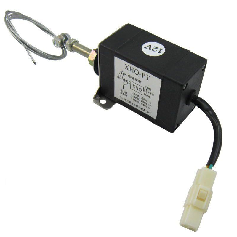 Encendido Tipo de tirón Flameout magnético abierto DC 12 V/24 V motor diésel válvula de solenoide de XHQ-PT