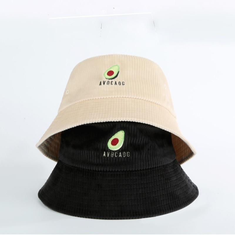 2019 новая Рыбацкая шляпа женская осенняя и зимняя японская вышивка авокадо дикая Вельветовая шляпа с большими полями шляпа от солнца для путешествий