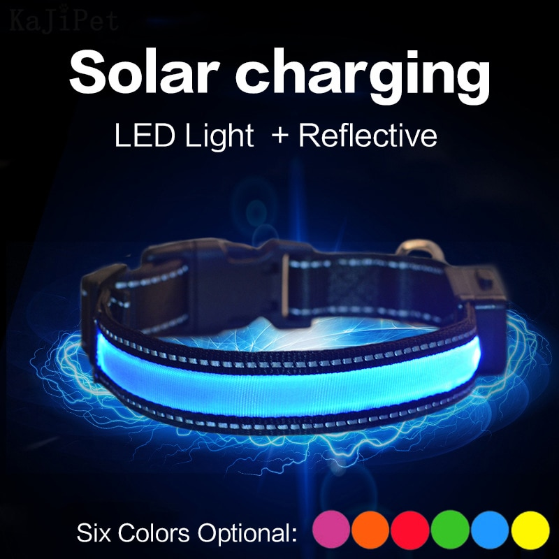 aliexpress.com - Solar Charging Led Dog Collar USB Rechargeable Night Safety Collar Perro Led Usb Adjustable Pet Led Dog Collar Light Usb Glowing