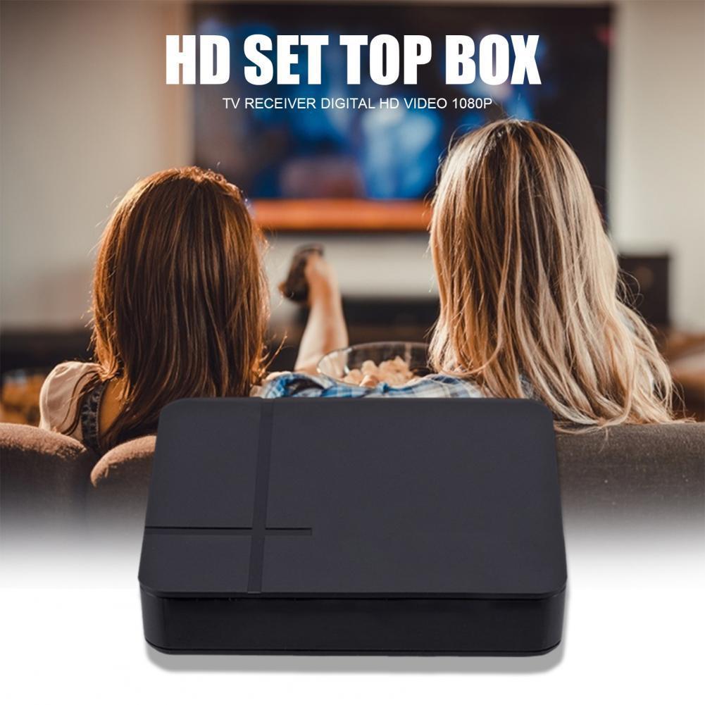 ТВ-приставка с высоким разрешением Цифровой видеоплеер ресивер Адаптер ТВ телеприставка цифровое HD видео 1080P европейский стандарт