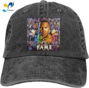 Chris Brown F.A.M.E. Denim Caps for Mens Womens Baseball Hats Unisex Casquette