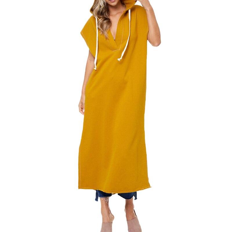 Back Hollow Bodycon Midi Dress Sleeveless T Shirt Hoodies Summer Sexy Deep V Women Loungewear Clothes for Ladies Dress