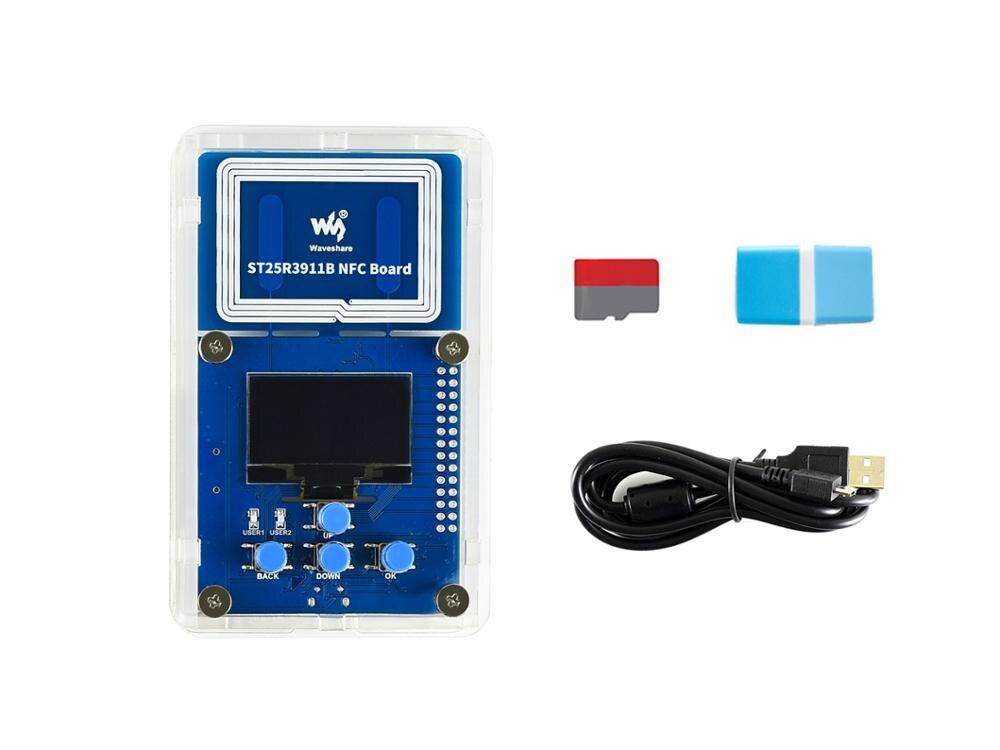 Waveshare-مجموعة تقييم NFC ST25R3911B ، قارئ NFC ، مثالية للأوراق الإلكترونية السلبية العذبة التي تعمل بتقنية NFC