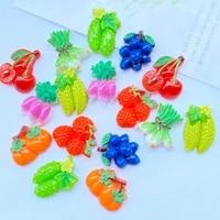 30pcs new cute mini simulation fruit series flat bottom diy scrapbook handicraft accessories k03
