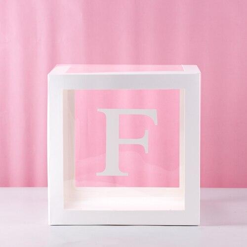 1Pc Transparent Quadrat Karton Ballon Box für Baby Shower Taufe Geburtstag Party Decor S7 #5