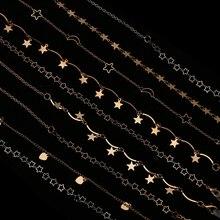 Lunettes de soleil à chaîne   1 pièce 61/70cm lunettes à pendentif, lunettes à étoiles de lune, porte-cordon, cordon de cou, longe de lunettes