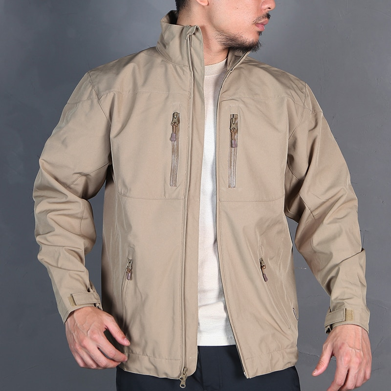 Emersongear Tactical SoftShell Windbreaker Jacket Trench Coat Warm Airsoft Sports Military Outdoor Hiking Travel EM6810