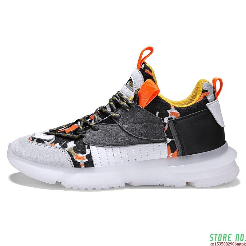Respirável de Alta Masculinos de Renda Novos Sapatos Esportivos Masculinos Leve Iluminado Confortável Flexibilidade Resistente Tênis 2021