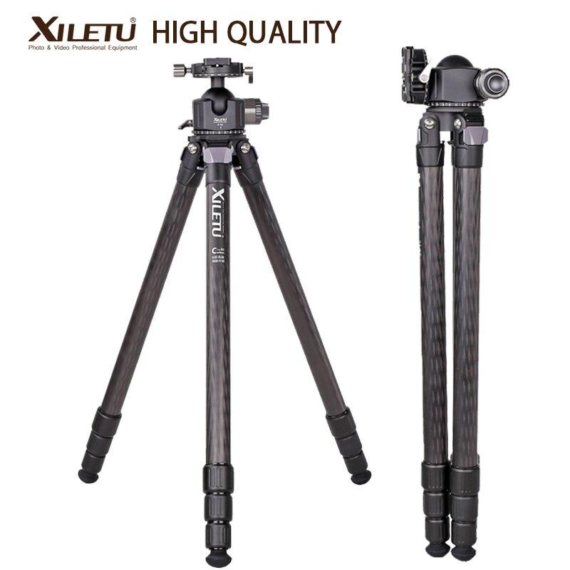 XILETU-حامل ثلاثي القوائم من ألياف الكربون XLS324C G54 ، مع رأس بانوراما 360 درجة ، للكاميرا ، حامل تصوير احترافي للطيور