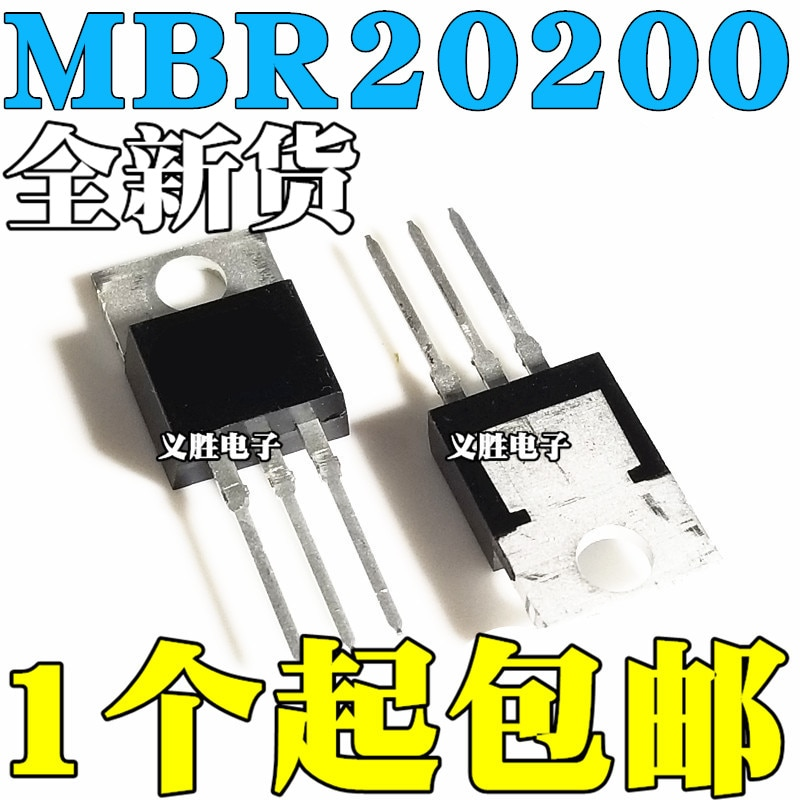Original 5PCS/ MBR20200CTG B20200G 20A 200V PARA-220