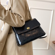 2021 Spring and Autumn New Brand Designer Small Chain Pu Leather Crossbody Bags for Women Simple Lux
