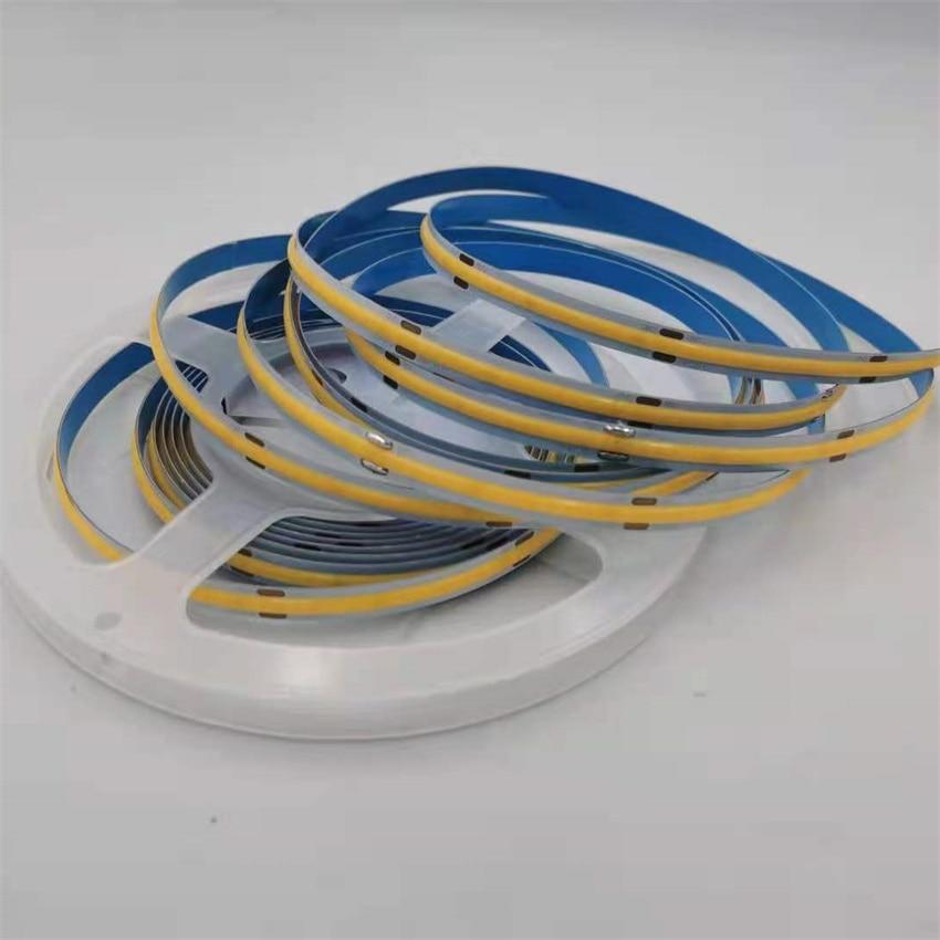 Free Shipping 528led/m  COB LED Strips High CRI90 FLexible 15W/m 24V 12V No Visible LED Spots Hot-Selling Strip Lights enlarge