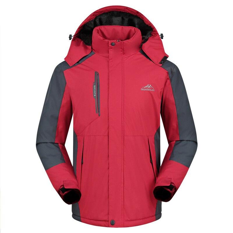 ملابس تزلج للرجال ، وسترة واقية من المطر ، وسترة مخملية سميكة ، وملابس عمل رجالية ، وسترة دافئة وباردة لتسلق الجبال