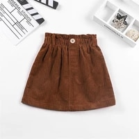 kids girls corduroy brown pleated bust skirt holiday casual mini 3 12 years new