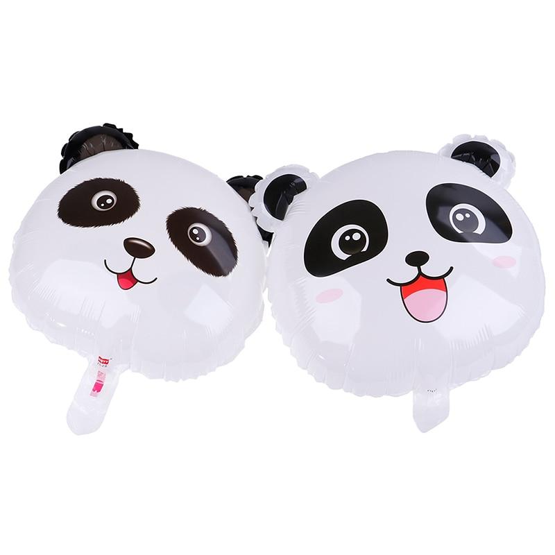 1 unidad de Globos de papel de aluminio Panda de dibujos animados Animal de dibujos animados 18 pulgadas globo de oso Panda decoración de fiesta de cumpleaños Globos niño juguete inflable