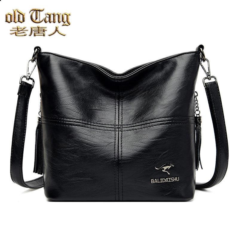 قديم تانغ تريند السيدات حقائب كتف للنساء 2021 جديد حقيبة يد فاخرة سعة كبيرة جلد امرأة حقيبة كروسبودي