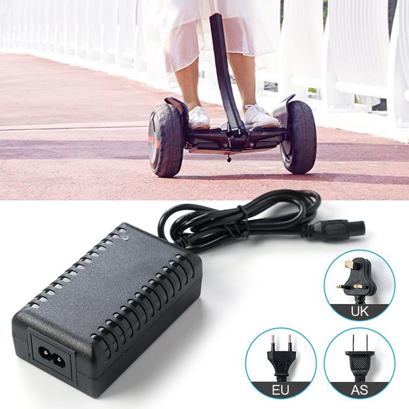 Adaptador de cargador Pantalla de luz Led para Scooter de equilibrio eléctrico 42V 2A cargador enchufe US/ UK/ EU/AU