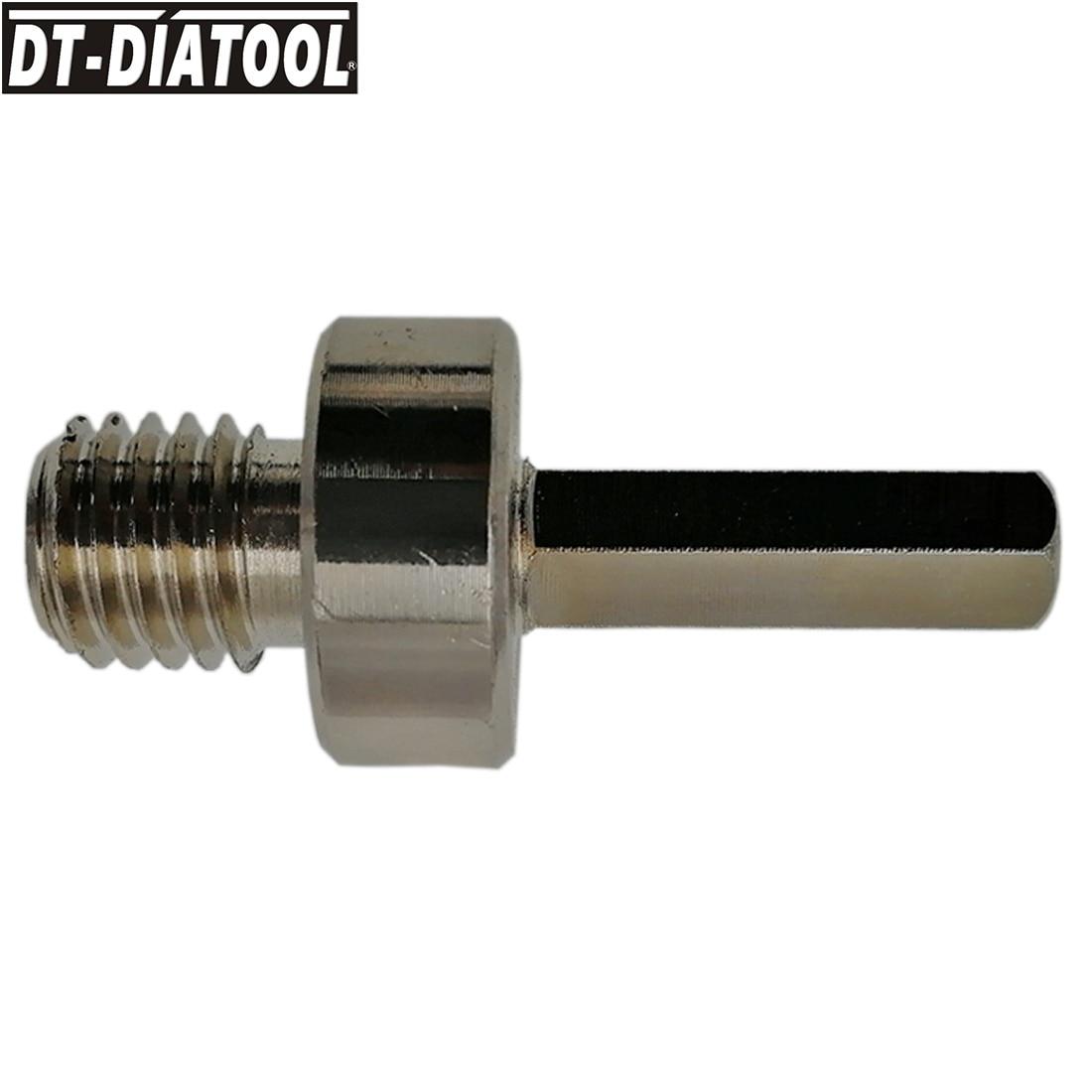 DT-DIATOOL 1 Pza M14 rosca macho a 3/8 adaptador de vástago hexagonal para taladro manual taladro eléctrico Cambio de rosca convertidor broca de núcleo