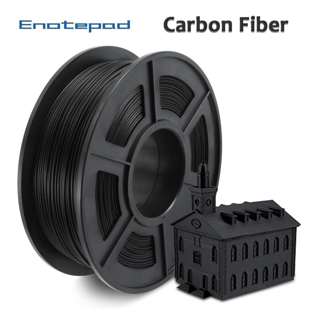 Enotepad PLA الكربون الأسود 1 كجم PLA ألياف الكربون خيوط طابعة ثلاثية الأبعاد 1.75 مللي متر التسامح +/-0.02 مللي متر للأطفال تصميم اللوحة التطريز