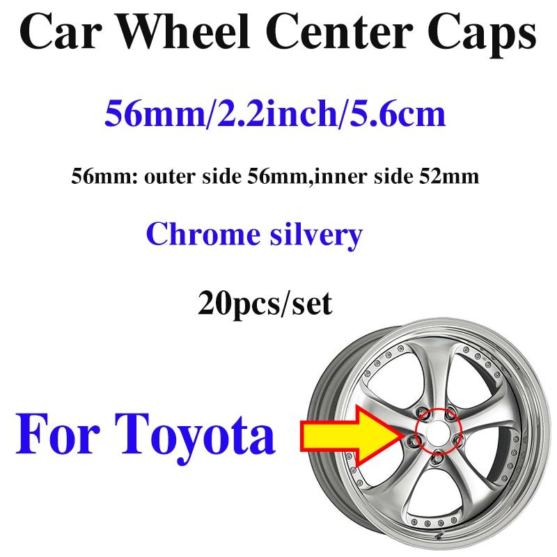 20pcs Custom 56mm 2.2inch Car Wheel Hub Center Caps For toyota Carolla Camry Reiz Sienna prius Land Car-styling Wheels Covcers