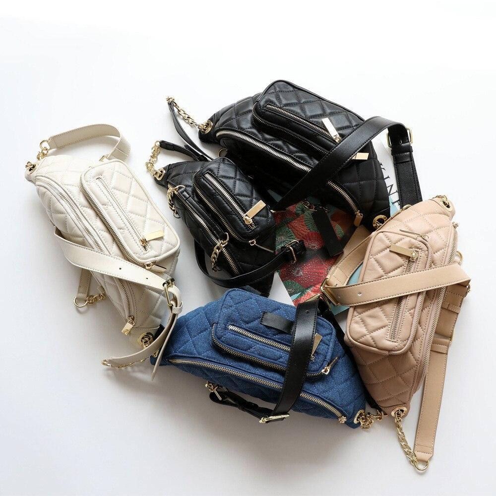 Luxury Designer Bags Famous Brand Women Bags Genuine Leather Lady Waist Bags Crossbody Bag 2019