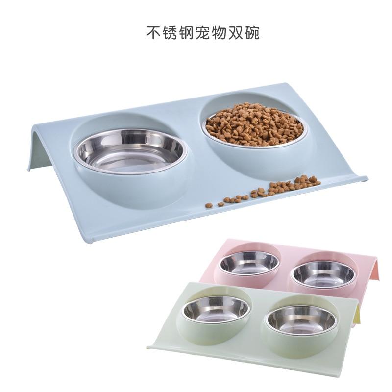 New, pet bowl, stainless steel, double bowl dog, a cat bowl, bowl, spot, pet supplies