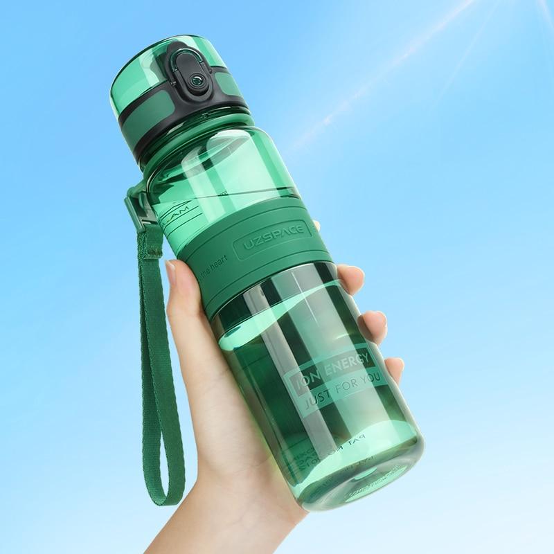 350/500ML Sports Water Bottle BPA Free Portable Leakproof Transparent Couple Drink Shaker Tour Trita