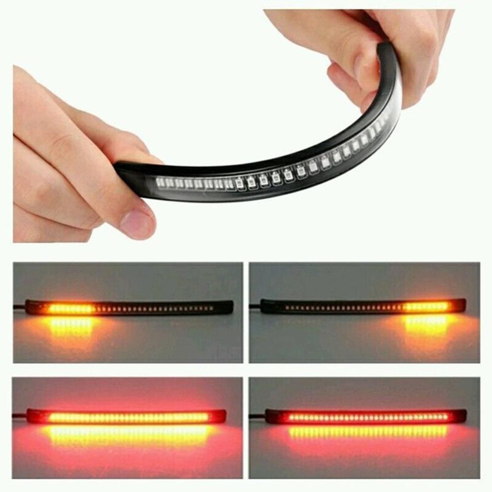 Водонепроницаемый очень яркий, гибкий светильник для украшения 48 светодиодный световой сигнал универсальный для автомобиля мотоцикла грузовика