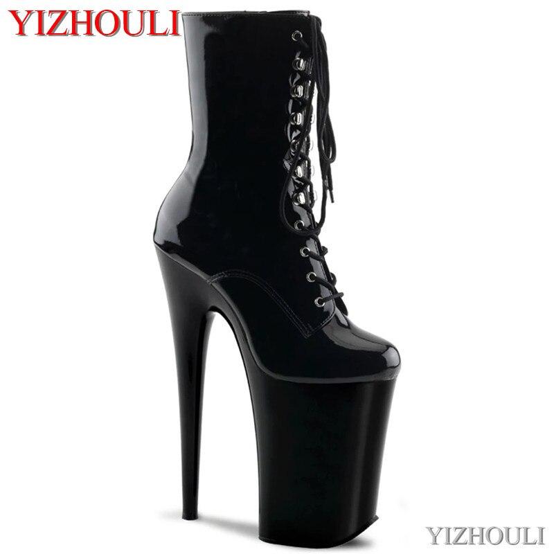 أحذية مثيرة بكعب عالٍ 9 بوصات وأحذية الكاحل ، أحذية الربيع والخريف 23 سنتيمتر ، كعب رفيع ، أحذية رقص القطب ، أحذية الكاحل للحفلات في ملهى ليلي