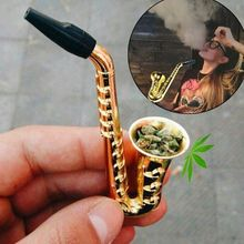 Único saxofone mini portátil fumar tubos de metal tubo de tabaco hookah presentes